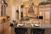 Mediterranean Style House Plan - 3 Beds 4 Baths 3954 Sq/Ft Plan #930-291 Interior - Kitchen