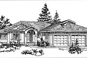 European Style House Plan - 2 Beds 1.5 Baths 1565 Sq/Ft Plan #18-172 Exterior - Front Elevation