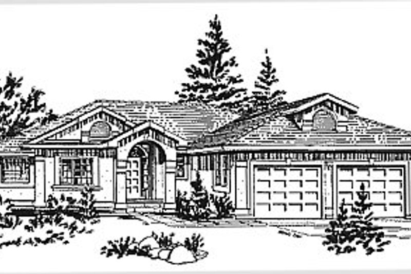European Exterior - Front Elevation Plan #18-172 - Houseplans.com