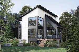 Cottage Exterior - Front Elevation Plan #25-4922
