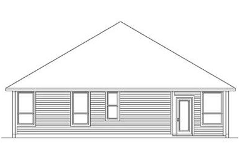 Traditional Exterior - Rear Elevation Plan #84-270 - Houseplans.com