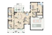 Southern Style House Plan - 3 Beds 2 Baths 1653 Sq/Ft Plan #36-425 Floor Plan - Main Floor