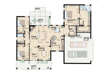Southern Floor Plan - Main Floor Plan Plan #36-425