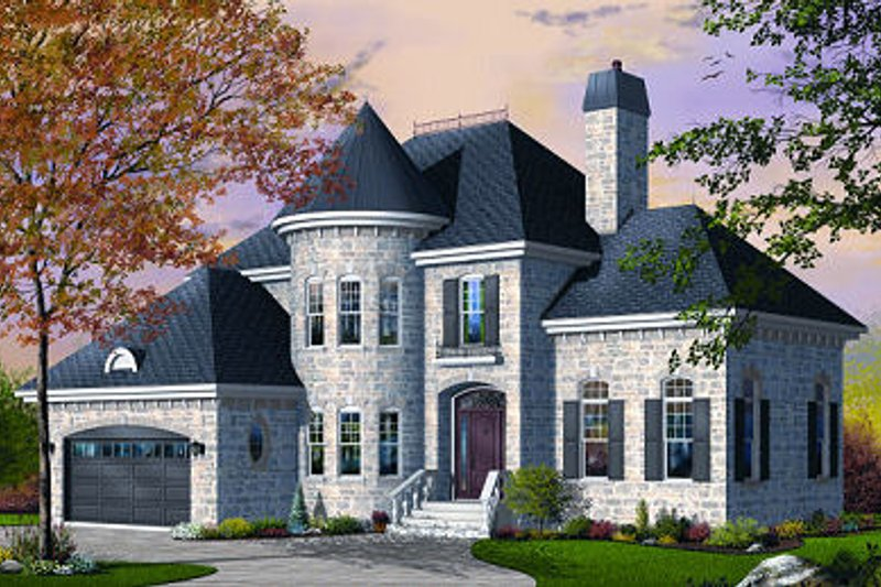 Dream House Plan - European Exterior - Front Elevation Plan #23-806