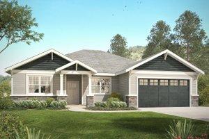 Craftsman Exterior - Front Elevation Plan #124-1031