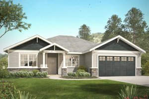 Craftsman Exterior - Front Elevation Plan #124-1031