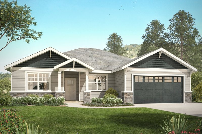 Dream House Plan - Craftsman Exterior - Front Elevation Plan #124-1031