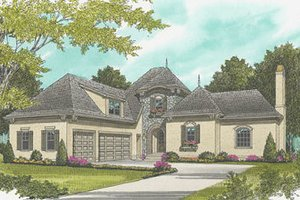 European Exterior - Front Elevation Plan #413-112