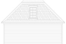 House Plan Design - Country Exterior - Rear Elevation Plan #932-368