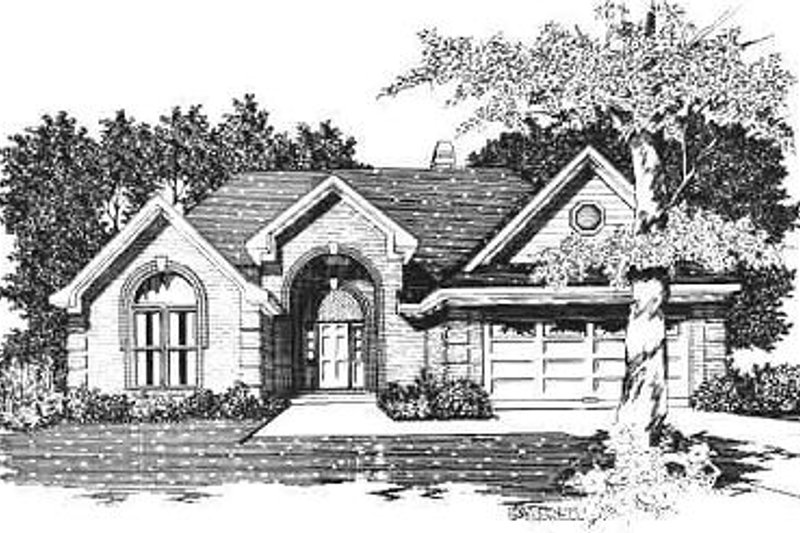 Colonial Style House Plan - 3 Beds 2 Baths 1862 Sq/Ft Plan #329-225 Exterior - Front Elevation