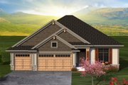 Ranch Style House Plan - 2 Beds 2 Baths 1469 Sq/Ft Plan #70-1188 Exterior - Front Elevation