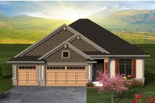 Dream House Plan - Ranch Exterior - Front Elevation Plan #70-1188
