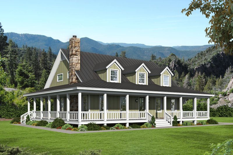 Country Exterior - Front Elevation Plan #932-168