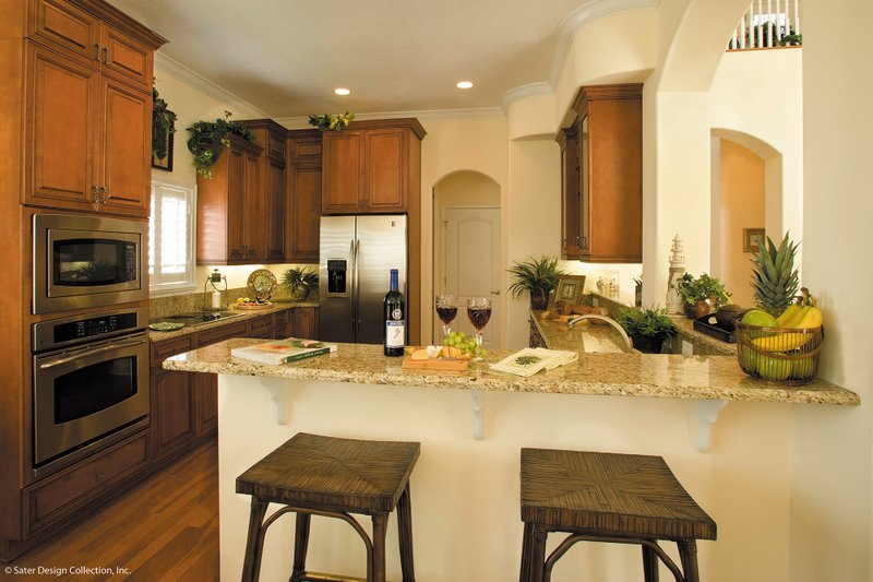 Mediterranean Interior - Kitchen Plan #930-16 - Houseplans.com