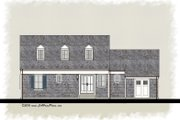Colonial Style House Plan - 3 Beds 2.5 Baths 1486 Sq/Ft Plan #489-7 Exterior - Rear Elevation