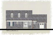Colonial Exterior - Rear Elevation Plan #489-7