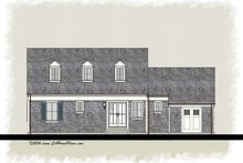 Colonial Exterior - Rear Elevation Plan #489-7
