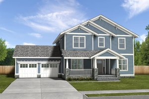 House Blueprint - Traditional Exterior - Front Elevation Plan #497-20