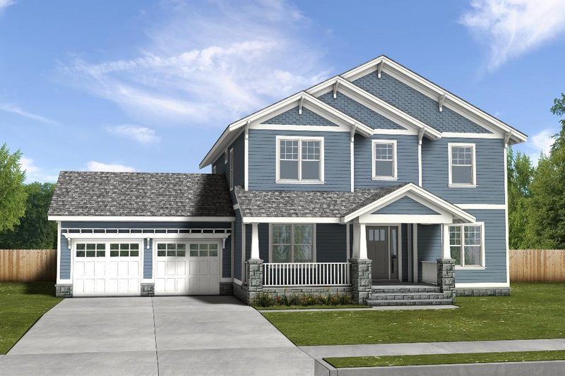 Traditional Exterior - Front Elevation Plan #497-20
