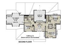 Farmhouse Floor Plan - Upper Floor Plan Plan #51-1155