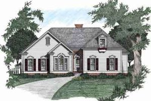 Architectural House Design - Traditional Exterior - Front Elevation Plan #129-105