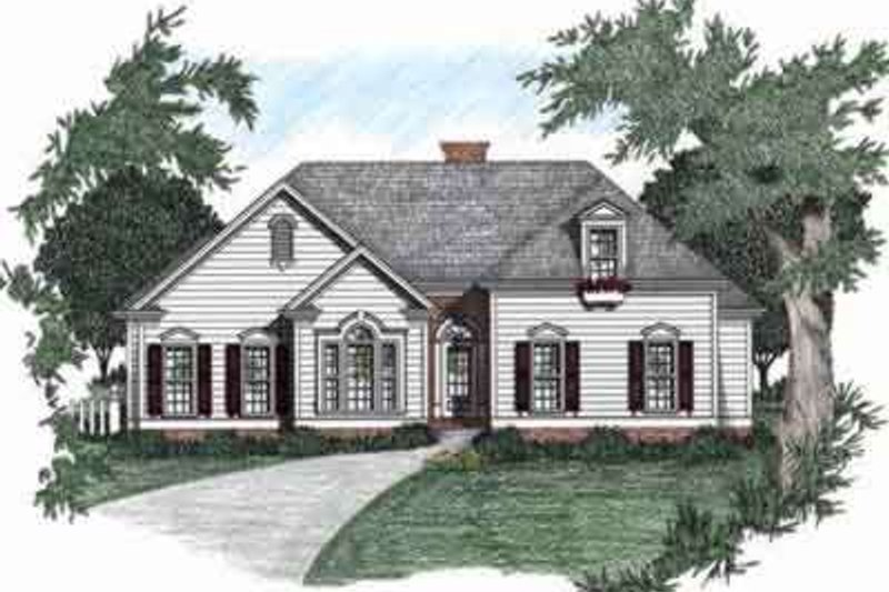 Traditional Exterior - Front Elevation Plan #129-105 - Houseplans.com