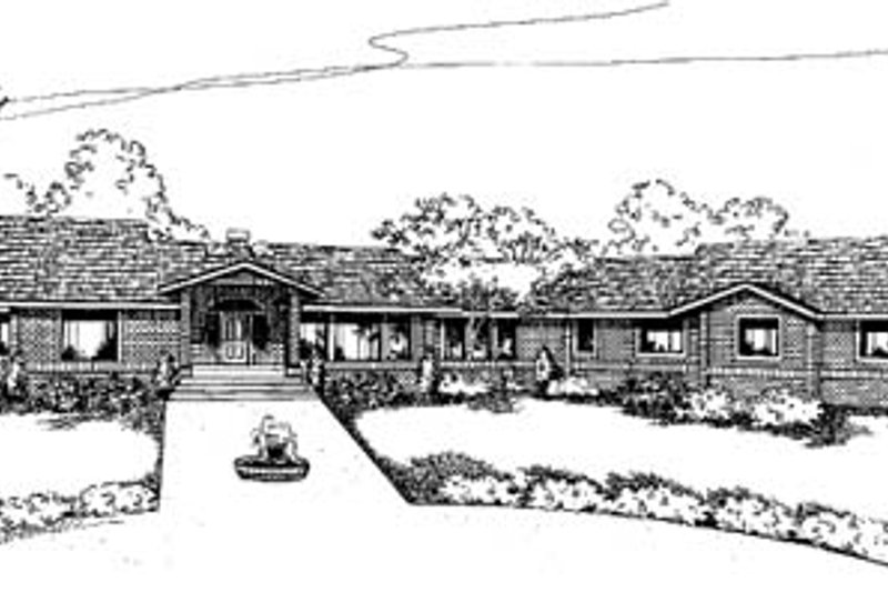 Traditional Exterior - Front Elevation Plan #60-586 - Houseplans.com