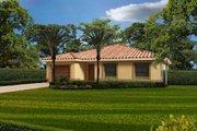 Mediterranean Style House Plan - 3 Beds 2 Baths 1453 Sq/Ft Plan #420-251