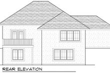 European Exterior - Rear Elevation Plan #70-982