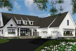 Farmhouse Exterior - Front Elevation Plan #51-1138