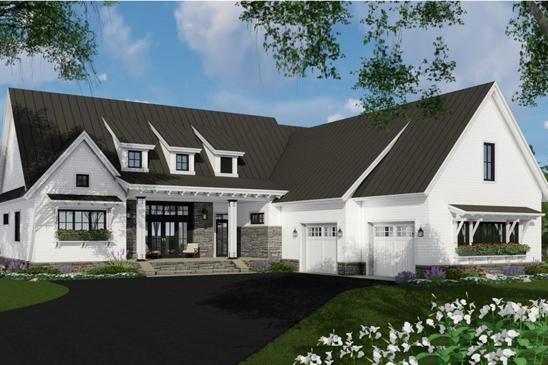 Farmhouse Style House Plan - 3 Beds 2.5 Baths 2340 Sq/Ft Plan #51-1138 Exterior - Front Elevation