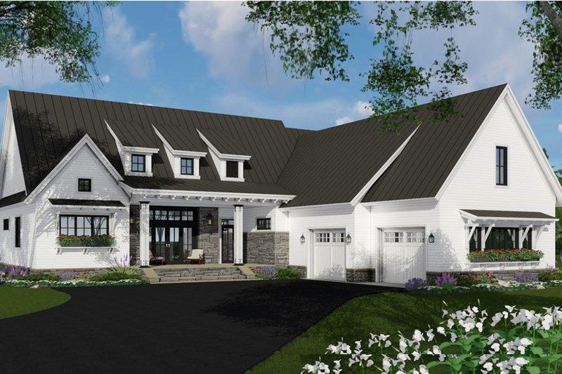 Architectural House Design - Farmhouse Exterior - Front Elevation Plan #51-1138