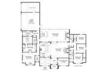 Southern Floor Plan - Main Floor Plan Plan #1074-11