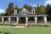 Bungalow Style House Plan - 4 Beds 3 Baths 3326 Sq/Ft Plan #63-404 Exterior - Front Elevation