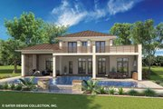 Contemporary Style House Plan - 4 Beds 4 Baths 3708 Sq/Ft Plan #930-461 Exterior - Rear Elevation