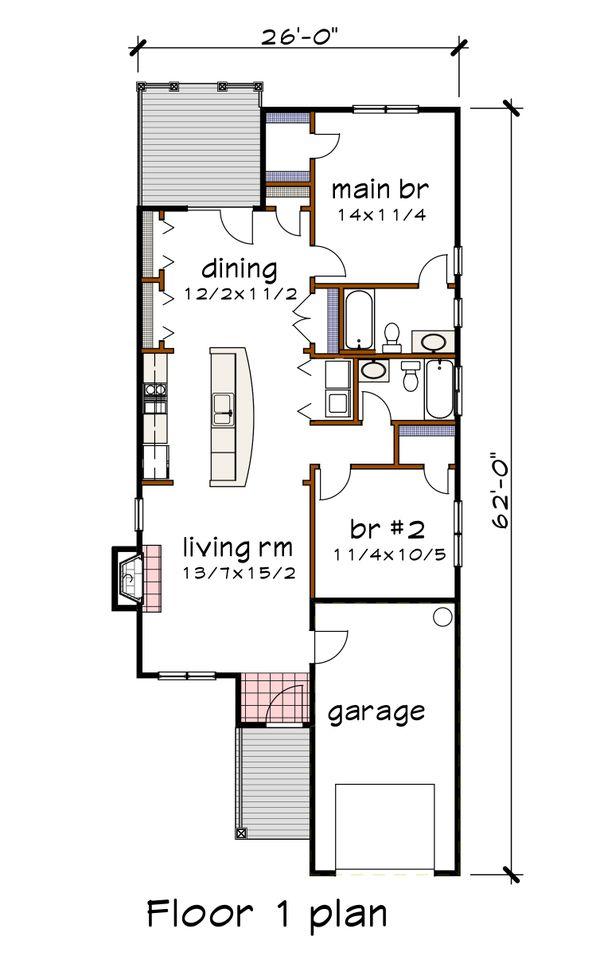 Bungalow Floor Plan - Main Floor Plan Plan #79-307