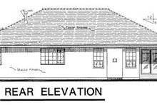 Home Plan Design - Ranch Exterior - Rear Elevation Plan #18-189