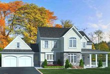 Dream House Plan - Traditional Exterior - Front Elevation Plan #46-491