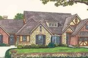Tudor Style House Plan - 3 Beds 2 Baths 3708 Sq/Ft Plan #310-464 Exterior - Front Elevation