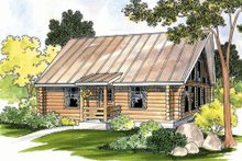 House Plan Design - Log Exterior - Front Elevation Plan #124-390