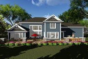 Craftsman Style House Plan - 4 Beds 3.5 Baths 3392 Sq/Ft Plan #70-1287 Exterior - Rear Elevation