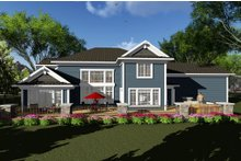 Home Plan Design - Craftsman Exterior - Rear Elevation Plan #70-1287