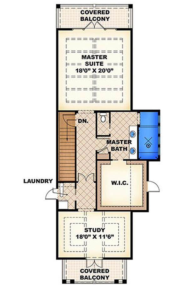 Beach Floor Plan - Other Floor Plan Plan #27-456
