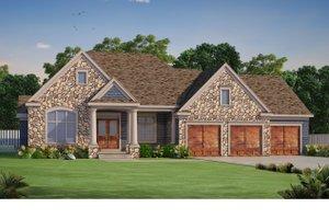 Craftsman Exterior - Front Elevation Plan #20-2454