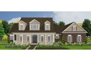 Country Style House Plan - 4 Beds 3.5 Baths 2890 Sq/Ft Plan #63-210 Exterior - Front Elevation