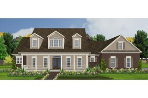 Country Exterior - Front Elevation Plan #63-210