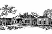 Colonial Style House Plan - 4 Beds 4.5 Baths 5083 Sq/Ft Plan #72-368 Exterior - Front Elevation