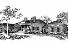 House Blueprint - Colonial Exterior - Front Elevation Plan #72-368