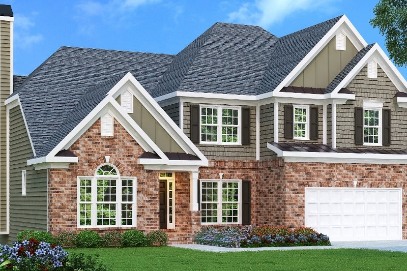 Dream House Plan - European Exterior - Front Elevation Plan #419-189