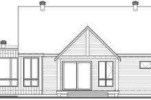 House Plan Design - Contemporary Exterior - Rear Elevation Plan #23-2727